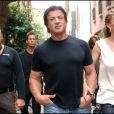 Sylvester Stallone et Jennifer Flavin à Milan en 2006