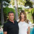 Exclusif - Sylvester Stallone et sa femme Jennifer Flavin - Sylvester Stallone a été reçu en famille par le prince Albert II de Monaco pour souffler ses 70 bougies au palais princier à Monaco le 8 juillet 2016.