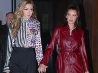 Bella Hadid : Sexy en tenue de cuir courte pour une sortie avec sa soeur Gigi