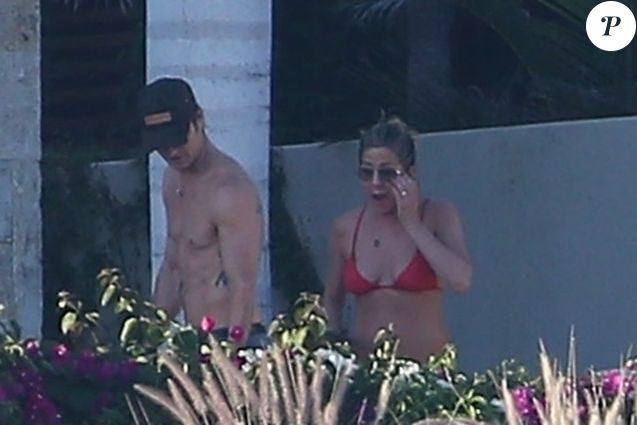 Exclusif - Jennifer Aniston et son mari Justin Theroux en vacances à Cabo San Lucas au Mexique, le 1er janvier 2018.
