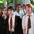 Emma Watson (Hermione), Rupert Grint (Ron) et Daniel Radcliffe (Harry) dans le film Harry Potter et le prisonnier d'Azkaban - 2003