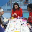 La duchesse Catherine de Cambridge, enceinte de six mois, visitait le 17 janvier 2018 la nouvelle aile à hôpital pour enfants Great Ormond Street Hospital à Londres.
