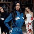 Pour sa nouvelle campagne axée sur la famille, Calvin Klein a réussi le pari de faire poser les cinq sœurs Kardashian/Jenner ensemble: Kim Kardashian, Khloé Kardashian, Kourtney Kardashian, Kylie Jenner et Kendall Jenner. Janvier 2018.