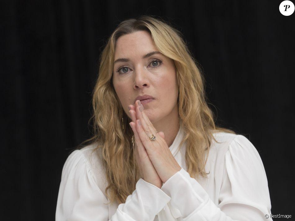 """Kate Winslet - Conférence de presse avec les acteurs du film """"Wonder Wheel"""" à New York. Le 14 octobre 2017"""