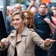 Kate Winslet fait la promotion de son dernier film The Mountain Between Us à New York, le 26 septembre 2017