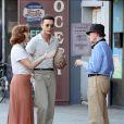Justin Timberlake, Kate Winslet et Juno Temple sur le tournage du nouveau film de Woody Allen à New York, le 18 octobre 2016