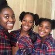 Jamelia pose avec ses filles Teja, Tiani et True. Instagram, janvier 2018