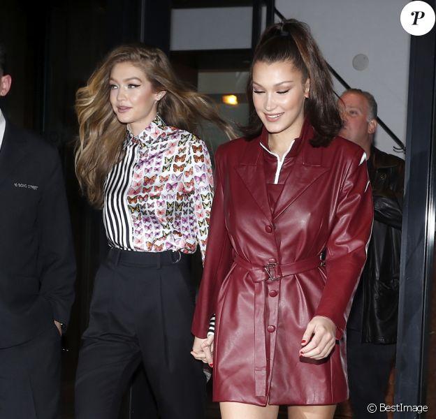 Gigi et Bella Hadid New York, le 11 janvier 2018.
