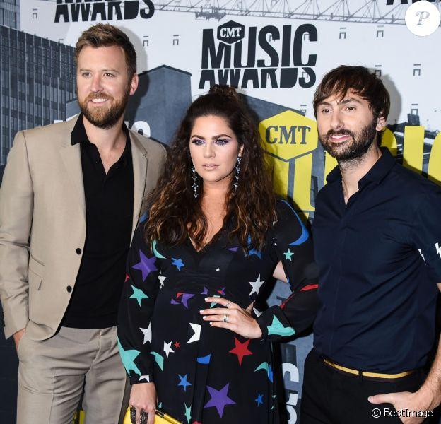 Charles Kelley, Hillary Scott, Dave Haywood lors des ''2017 CMT Music awards'' au Music City Center à Nashville, le 7 juin 2017.