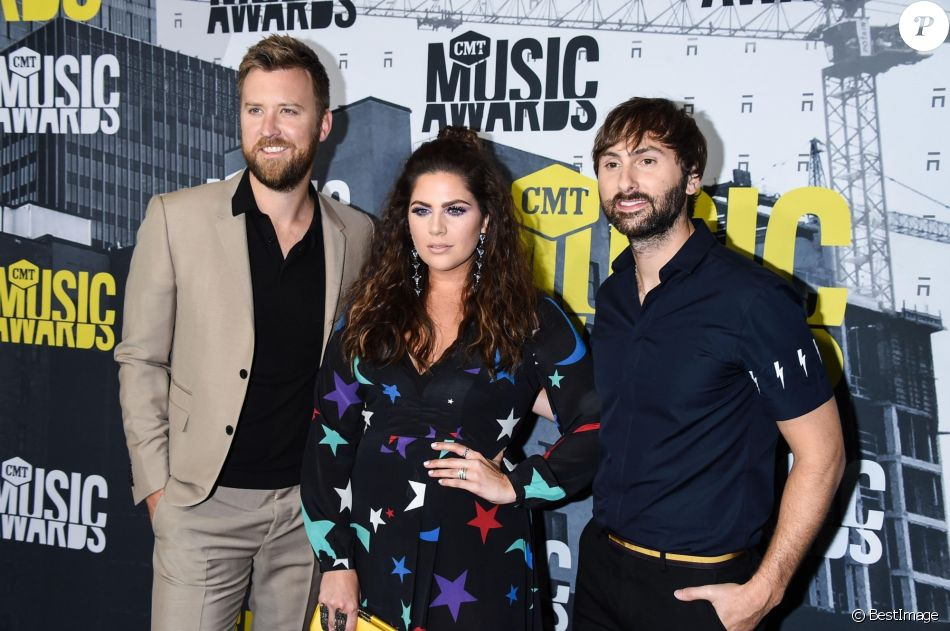 Charles Kelley, Hillary Scott, Dave Haywood lors des ''2017 CMT Music awards'' au Music City Center à Nashville, le 7 juin 2017.