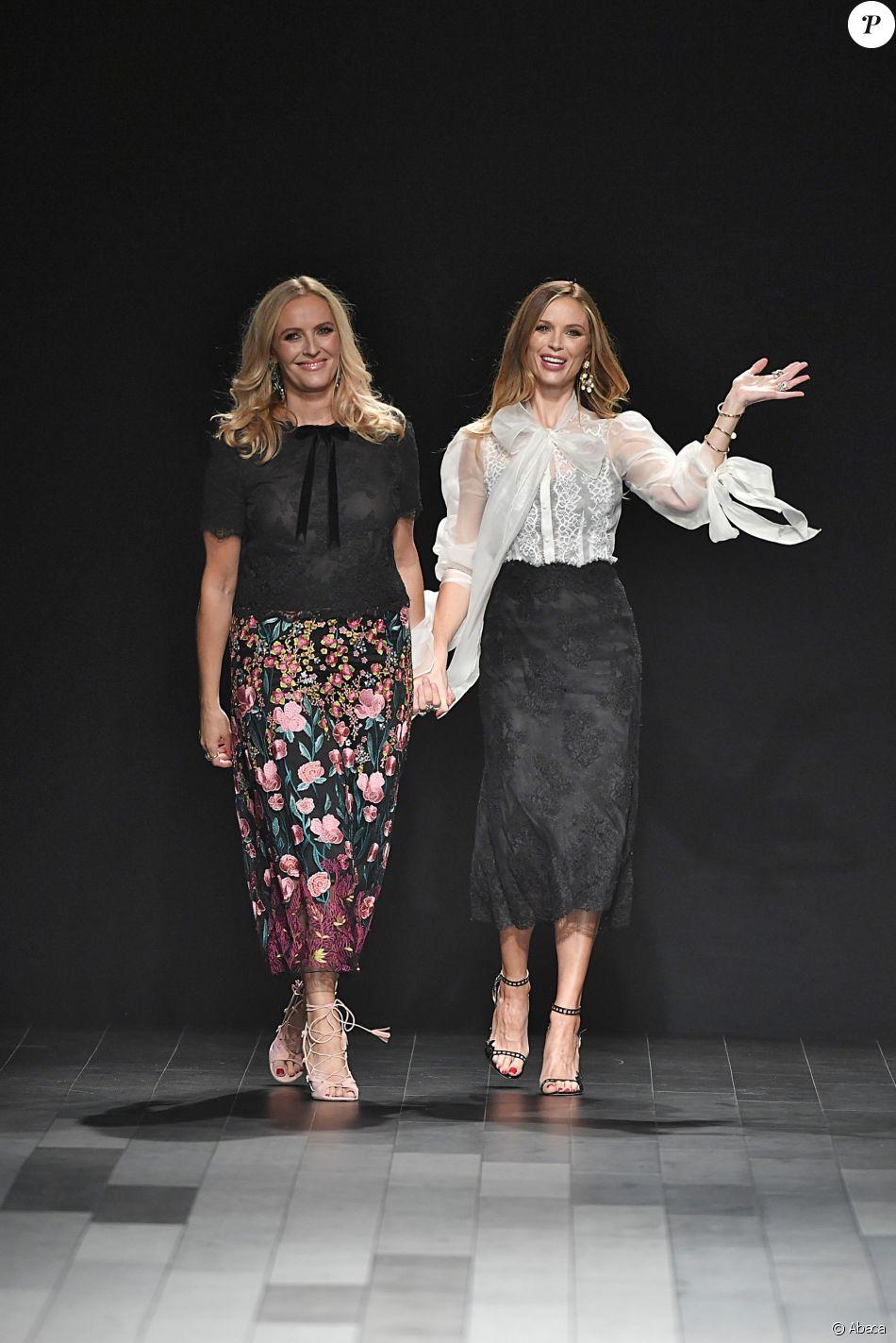 Keren Craig et Georgina Chapman - Défilé Marchesa à New York, le 13 septembre 2017.