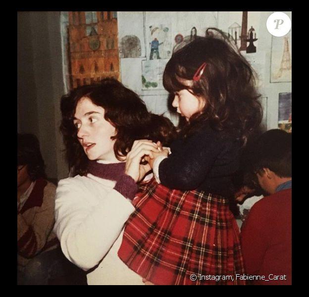 Fabienne Carat et sa maman, une archive personnelle dévoilée le 31 janvier 2018.
