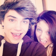 Hariet Shelley et son frère George Shelley (ex-Union J), photo Instagram 2013.