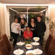 La princesse Stéphanie de Monaco avec ses enfants Camille Gottlieb, Pauline et Louis Ducruet, ainsi que la compagne de ce dernier, Marie (à gauche), lors de Thanksgiving 2017, photo Instagram Pauline Ducruet