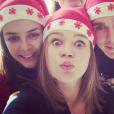 La princesse Stéphanie de Monaco avec ses enfants Pauline Ducruet, Camille Gottlieb et Louis Ducruet, photo Instagram Noël 2014