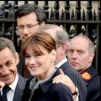 Nicolas Sarkozy et Carla Bruni à Londres, mars 2008.