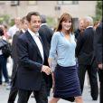 Nicolas Sarkozy et Carla Bruni à New York, le 22 setpembre 2008.