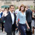Nicolas Sarkozy et Carla Bruni à New York, septembre 2008.