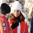 La princesse Mette-Marit de Norvège - Le prince William, duc de Cambridge et Catherine Kate Middleton (enceinte), duchesse de Cambridge visitent le site de l'école nationale de saut à ski à Oslo le 2 février 2018.  The Duke and Duchess of Cambridge attended the Holmenkollen ski jump then went on to a ski nursery at Ovreseterjern 2 February 2018.02/02/2018 - Oslo