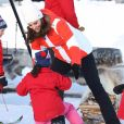 Le prince William, duc de Cambridge et Catherine Kate Middleton (enceinte), duchesse de Cambridge visitent le site de l'école nationale de saut à ski à Oslo le 2 février 2018.  The Duke and Duchess of Cambridge attended the Holmenkollen ski jump then went on to a ski nursery at Ovreseterjern 2 February 2018.02/02/2018 - Oslo