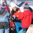 Le prince William, duc de Cambridge et Catherine Kate Middleton (enceinte), duchesse de Cambridge visitent le site de l'école nationale de saut à ski à Oslo le 2 février 2018.  The Duke and Duchess of Cambridge attended the Holmenkollen ski jump then went on to a ski nursery at Ovreseterjern 2 February 2018.02/02/2018 - Oslo