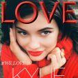 Kylie Jenner en couverture du magazine LOVE.