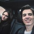 Antoine Flament, le fils de Flavie Flament, et sa chérie Camille, le 24 janvier 2018.