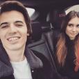 Antoine Flament (fils de Flavie Flament) et sa petite amie Camille, le 23 décembre 2017.
