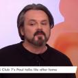 Paul Cattermole, ex-membre du groupe S Club 7, dans l'émission Loose Women sur la chaîne anglaise ITV, le 8 février 2018