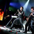 Exclusif - Yarol Poupaud - Johnny Hallyday en concert au Sporting Club à Monaco. Le 30 juillet 2015