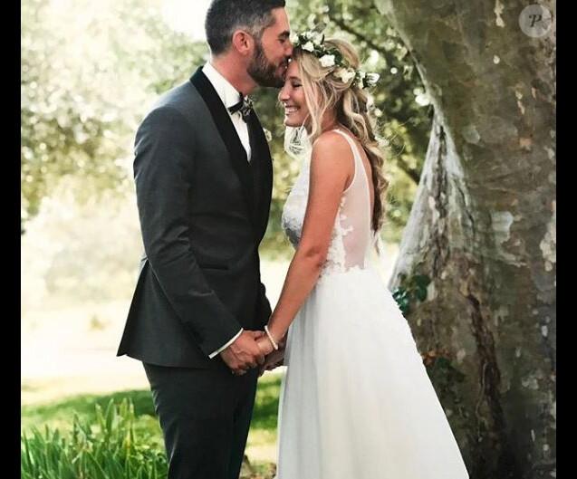 """Emma et Florian de """"Mariés au premier regard"""" le jour de leur mariage, Instagram, février 2018"""