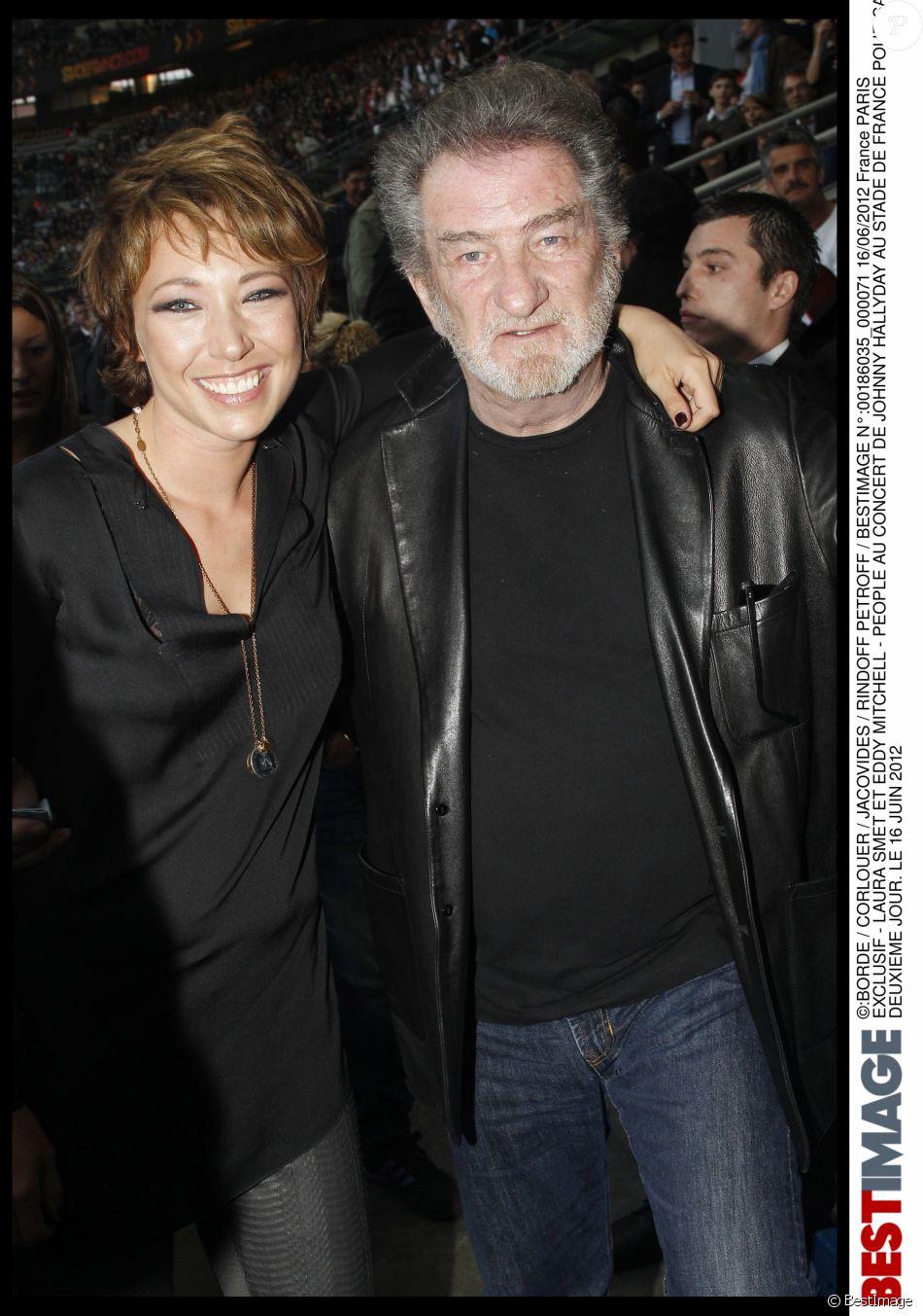 Exclusif - Laura Smet et Eddy Mitchell au concert de Johnny Hallyday au Stade de France le 16 juin 2012