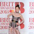 Anna Friel lors de la soirée des 38ème Brit Awards à l'O2 Arena à Londres le 21 février 2018.