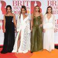 Little Mix : Jade Thirlwall, Leigh-Anne Pinnock, Jesy Nelson, Perrie Edwards lors de la soirée des 38ème Brit Awards à l'O2 Arena à Londres le 21 février 2018.