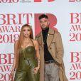 Jesy Nelson (Little Mix), Harry James lors de la soirée des 38ème Brit Awards à l'O2 Arena à Londres le 21 février 2018.