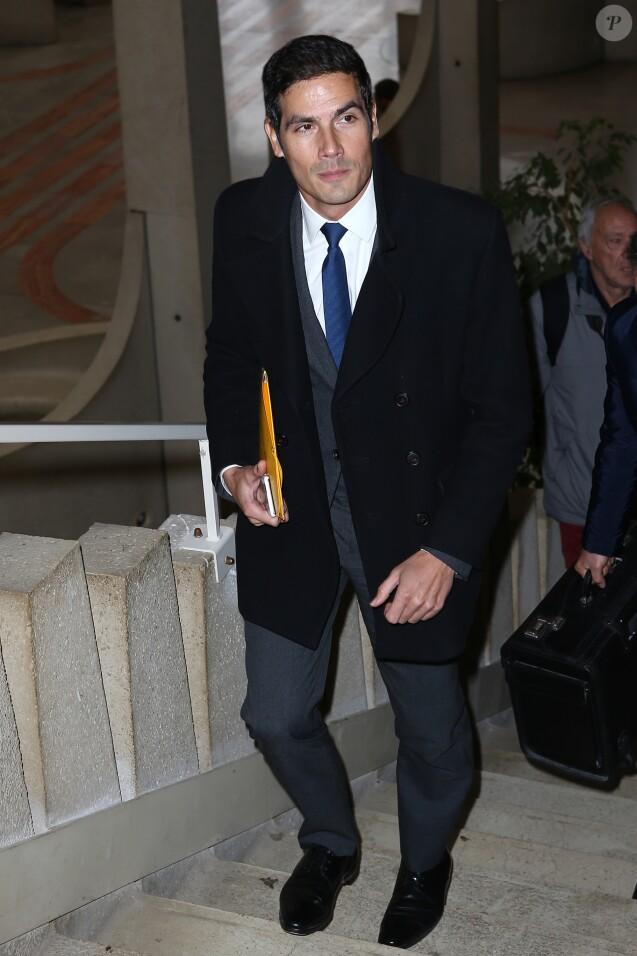 Mathieu Gallet et son avocat Christophe Ingrain arrivent au tribunal correctionnel de Créteil, jugé pour favoritisme lorsqu'il présidait l'INA. Le 16 novembre 2017
