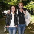 """Mazarine Pingeot et son époux Didier Le Bret - 19e édition de """"La Forêt des livres"""" à Chanceaux-près-Loches, le 31 août 2014."""