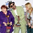 """Agnès Varda, JR, Rosalie Varda pour """"Faces Places"""" à la press room du 33e Independent Spirit Awards à Santa Monica, le 3 février 2018"""
