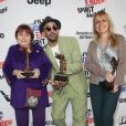 "Agnès Varda, JR, Rosalie Varda pour ""Faces Places"" à la press room du 33e Independent Spirit Awards à Santa Monica, le 3 février 2018"