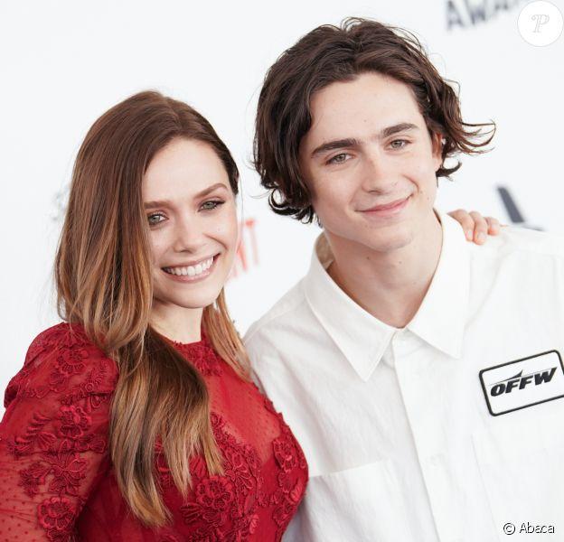 Elizabeth Olsen et Timothée Chalamet aux 33es Film Independent Spirit Awards à Santa Monica, le 3 mars 2018.