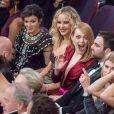 Jennifer Lawrence et Emma Stone auxOscars au Dolby Theatre, Hollywood, le 4 mars 2018.