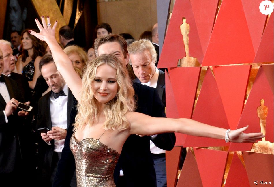 Jennifer Lawrence pendant les Oscars au Dolby Theatre, Hollywood, le 4 mars 2018.