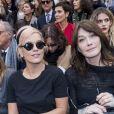 """Lily Allen, Carla Bruni Sarkozy - Défilé de mode automne-hiver 2018/2019 """"Chanel"""" au Grand Palais à Paris le 6 mars 2018. © Olivier Borde/Bestimage"""