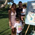 Lionel Messi avec sa femme Antonella Roccuzzo et leurs fils Thiago et Mateo lors du 2e anniversaire de Mateo, photo Instagram 11 septembre 2017