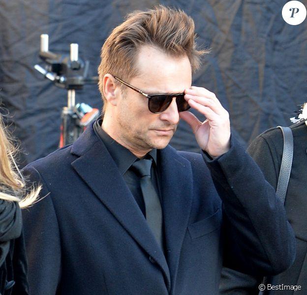 David Hallyday - Arrivées des personnalités en l'église de La Madeleine pour les obsèques de Johnny Hallyday à Paris le 8 decembre 2017. © Veeren/Bestimage