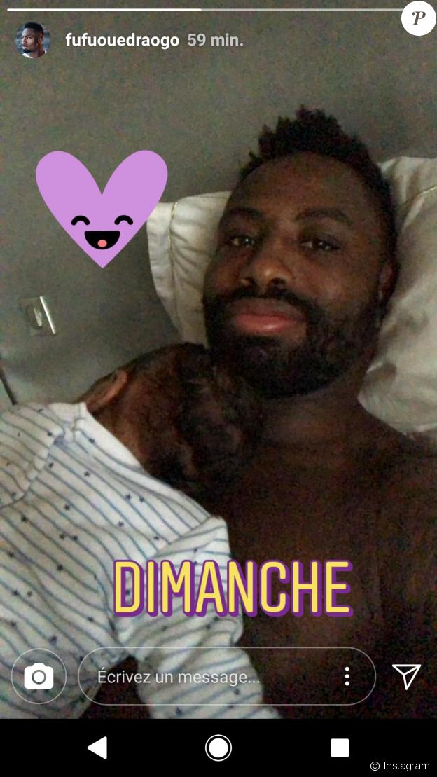 Ariane Brodier, son compagnon et son fils, Instagram, 11 mars 2018