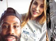 Ariane Brodier et Fulgence parents heureux : Pause tendresse avec leur fils
