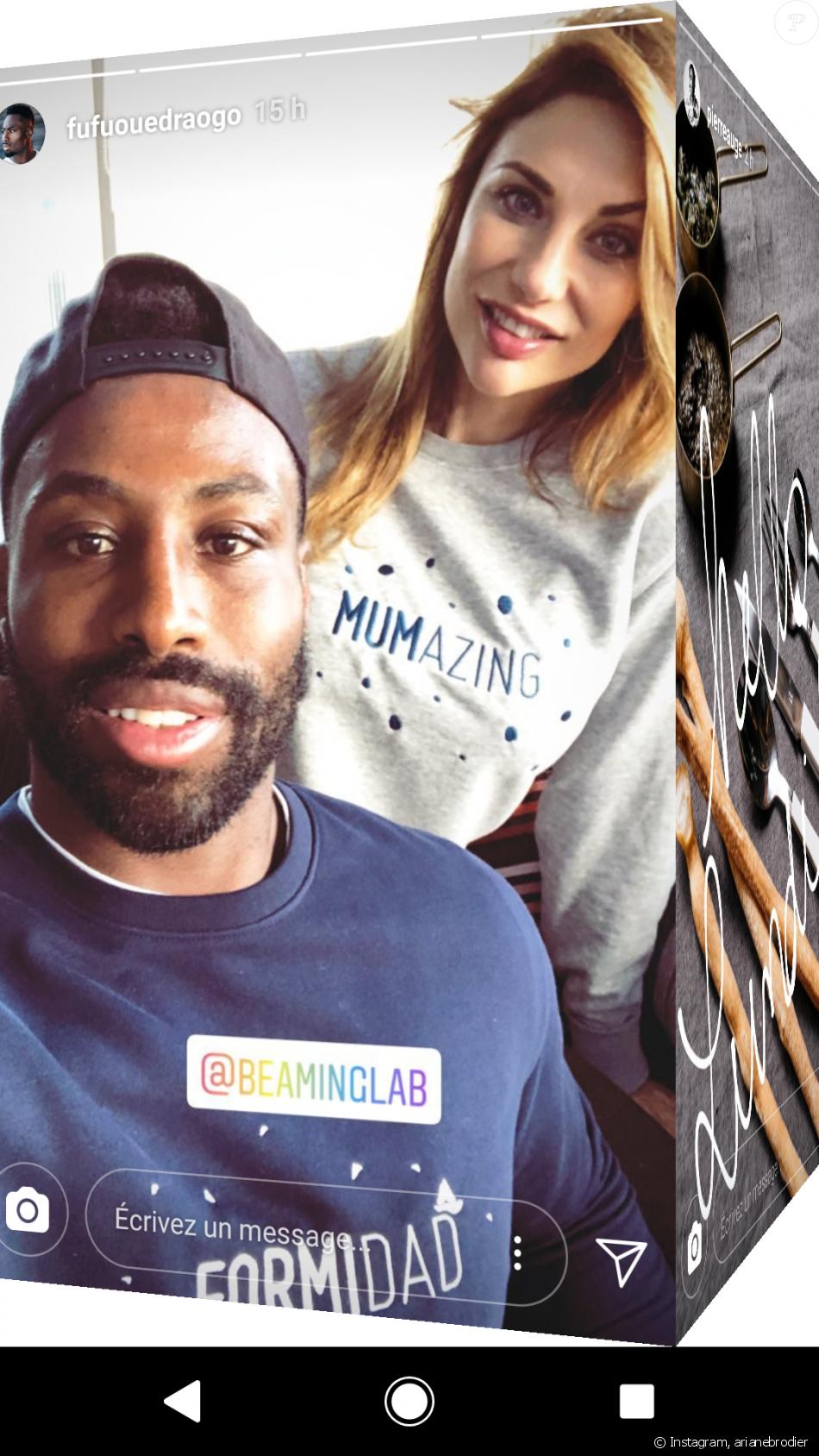 Ariane Brodier et son compagnon Fulgence heureux parents, 11 mars 2018, Instagram