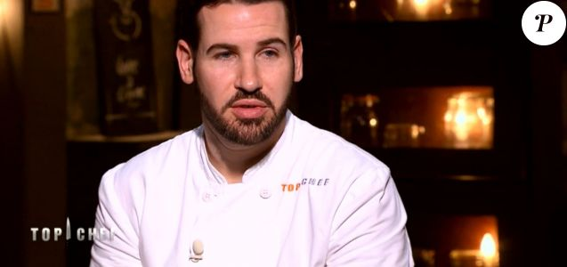 "Vincent dans ""Top Chef 2018"" (M6) lors de l'épisode 7 diffusé mercredi 14 mars 2018."