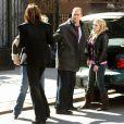 Mariska Hargitay, Christopher Meloni et Hilary Duff sur le tournage de  New York, Unité spéciale